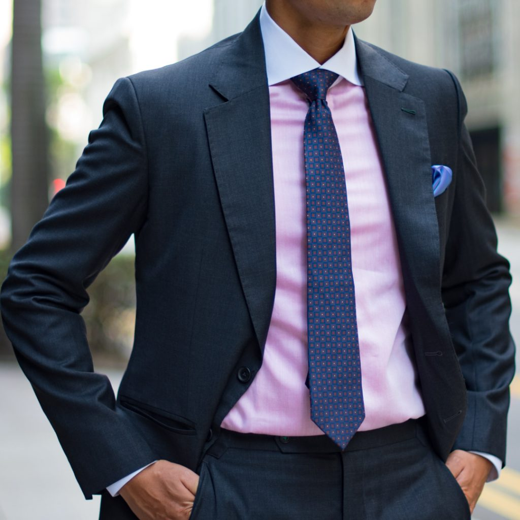 Perfect Attire - Tailor in Singapore Charcoal Grey Custom Suit